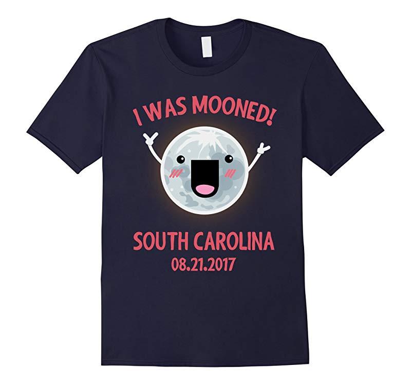 I Was Mooned South Carolina Total Solar Eclipse T-Shirt-BN