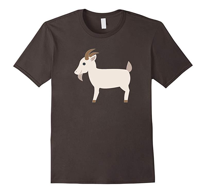 Goat Emoji T-Shirt Pig Sheep Cow Farm Animal Horns Tusks-RT