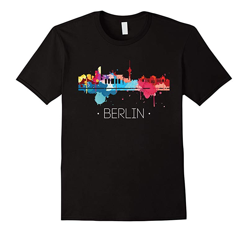 Berlin Shirt: Watercolor City Skyline Germany Tee | PAN389-RT