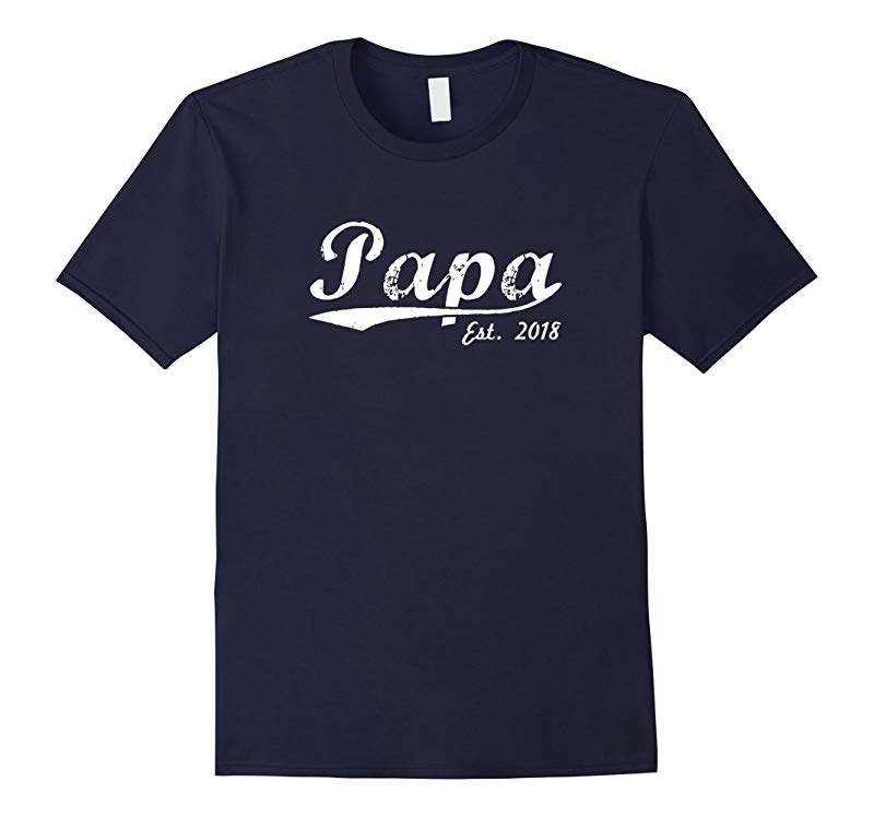 Mens New Papa T-Shirt - Papa Est 2018 - Papa To Be Shirt-RT