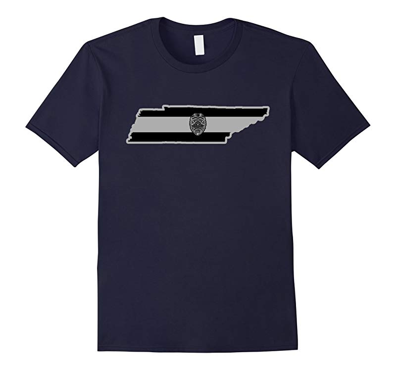 Tennessee Corrections Officer Thin Silver Line Family Tee-RT