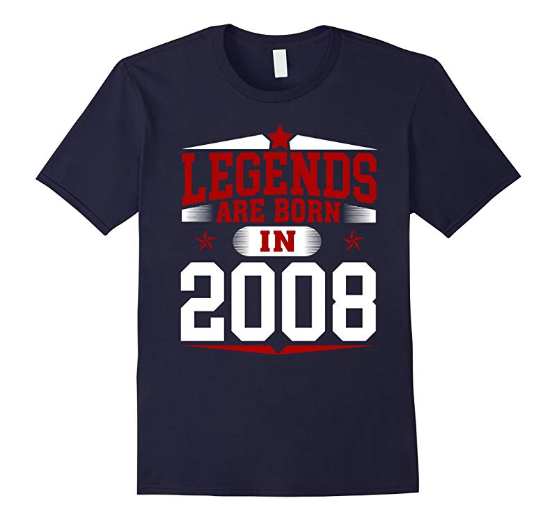 9th Year Old Boy Shirt Legends Are Born In 2008-RT