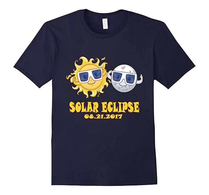 2017 Solar Eclipse Tee - Kids Cartoon Emoji Shirt-BN