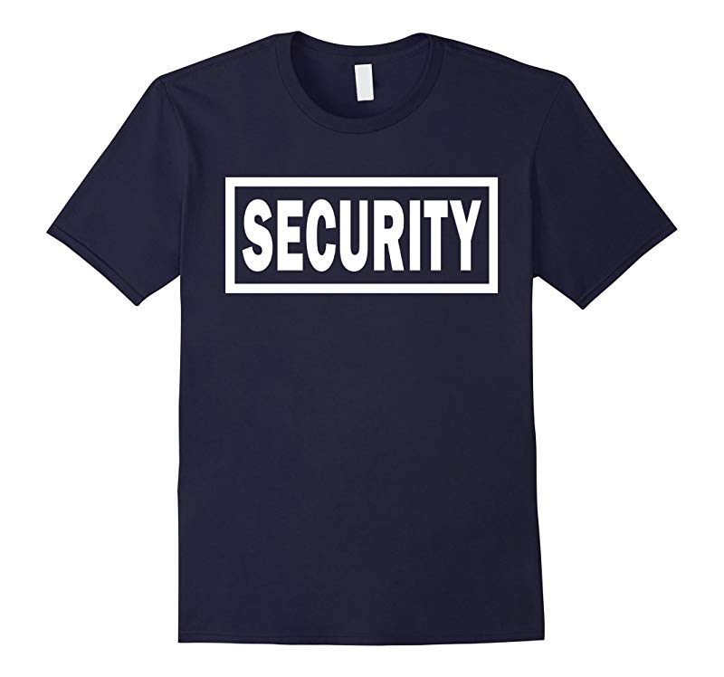 SECURITY Logo | Event Safety Guard Two Sided Print T-shirt-4LVS