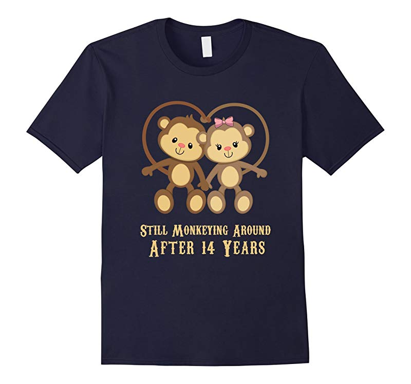 14th Wedding Anniversary T Shirt - 14 Years Vintage Gift-RT