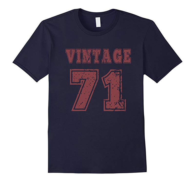 1971 Vintage Birthday Gift T-shirt For Men Women-RT