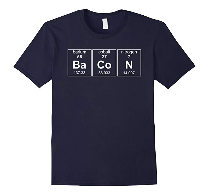 Bacon Chemistry Periodic Table Funny Novelty Tshirt-RT