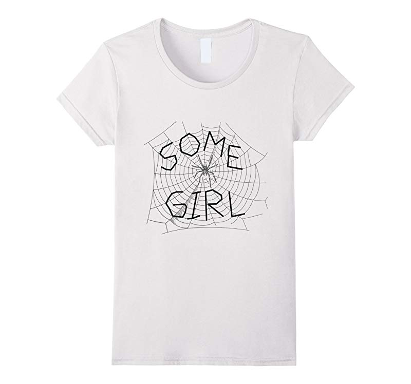 Some Girl Spider Web T-Shirt-RT