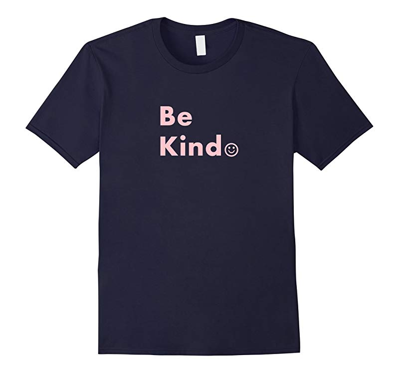 Be Kind Motivational Smiley Graphic Tee in Peace Pink-RT