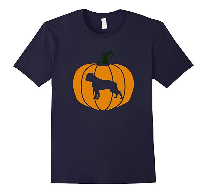 Happy Halloween American Bulldog Pumpkin Dog T-Shirt-RT
