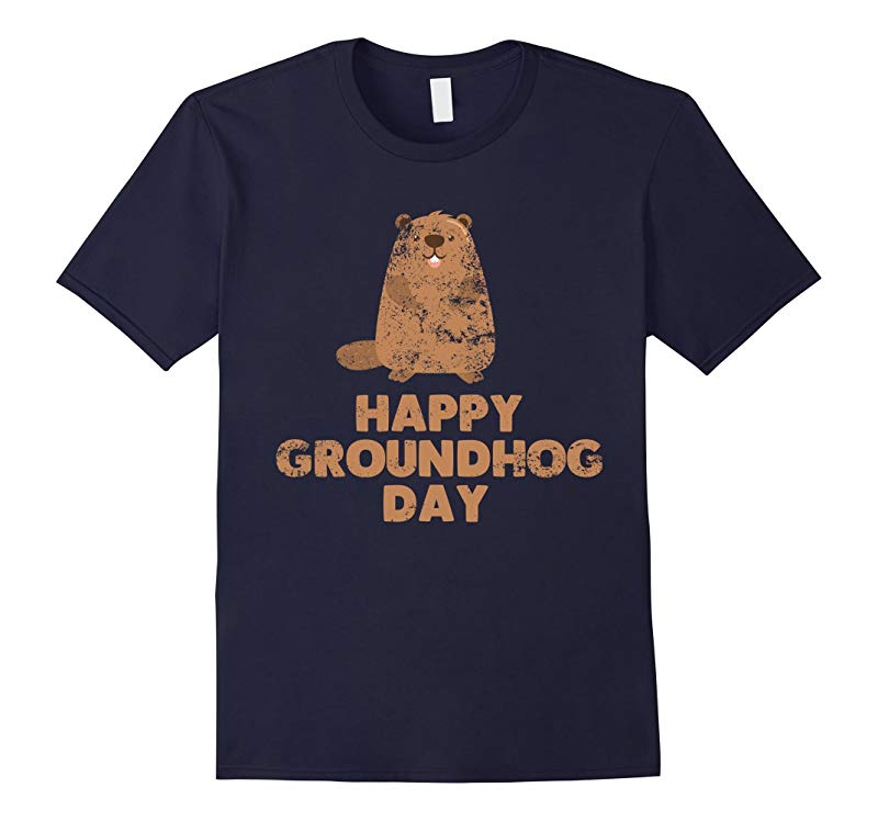 Awesome and Funny Happy Groundhog Day Tee Shirt-RT