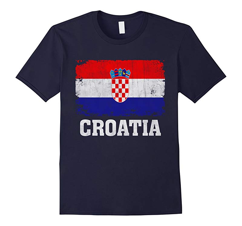 Croatia Flag T-Shirt Croatians Soccer Football Team Jersey-RT