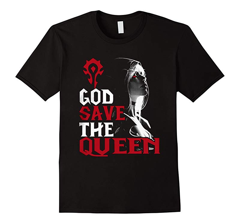 God save the queen t-shirt sylvanas windrunner wow-TD