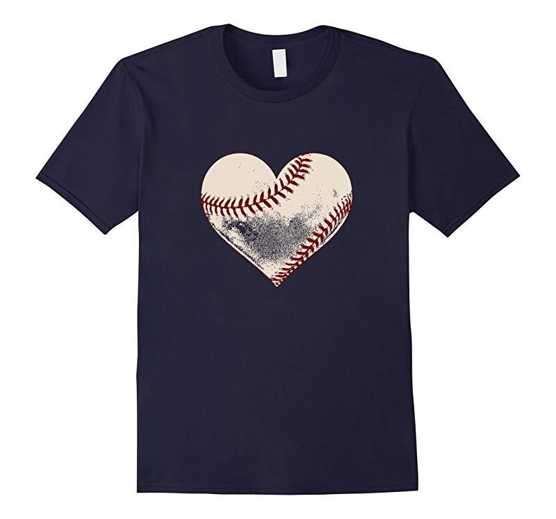 Baseball Heart Cute Mom Love T Shirt-RT