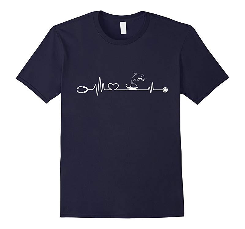 Nurse Love Dolphin - Lovely T Shirt-TD