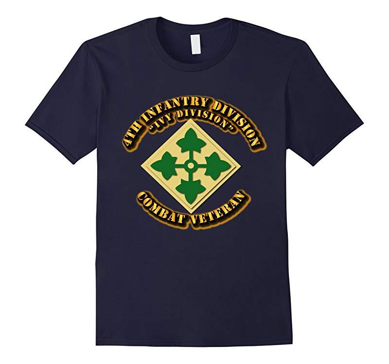 4th Infantry Division Combat Veteran Tshirt-RT