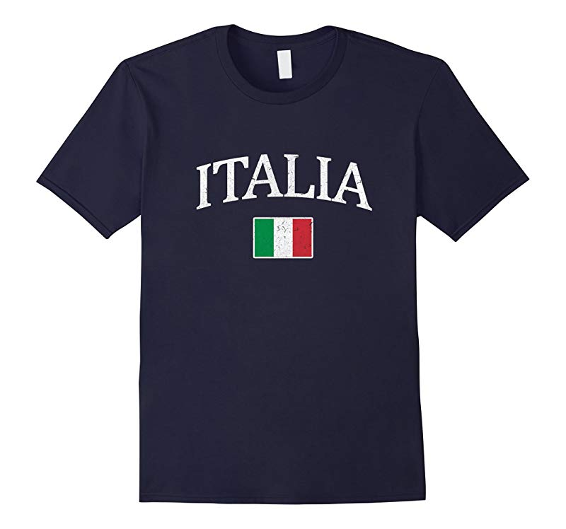 Vintage Italia T-shirt Italian Flag Tee Italy Graphic Design-FL