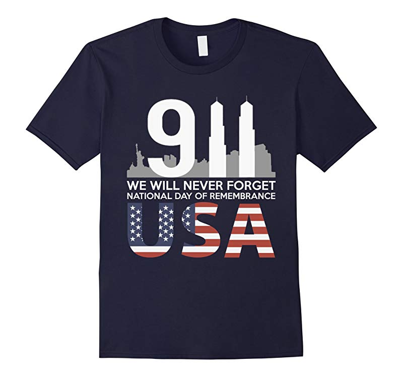 9/11 2001 Memorial Never Forget Usa Flag Patriot Day T-Shirt Masswerks Store
