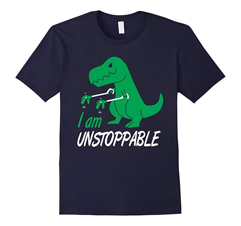 I Am Unstoppable Funny T-Rex Dinosaur T-Shirt-RT