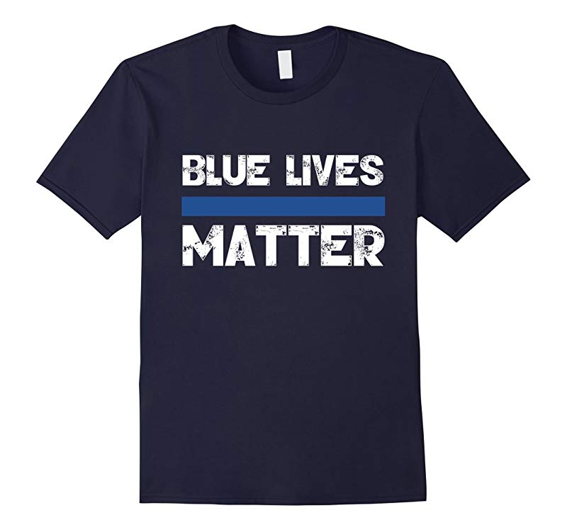 Blue Lives Matter Vintage T-Shirt Support Law Enforcement-RT