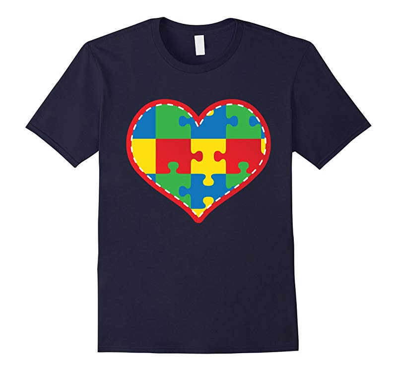 Autism Puzzle Heart Awareness Walk T-shirt-RT