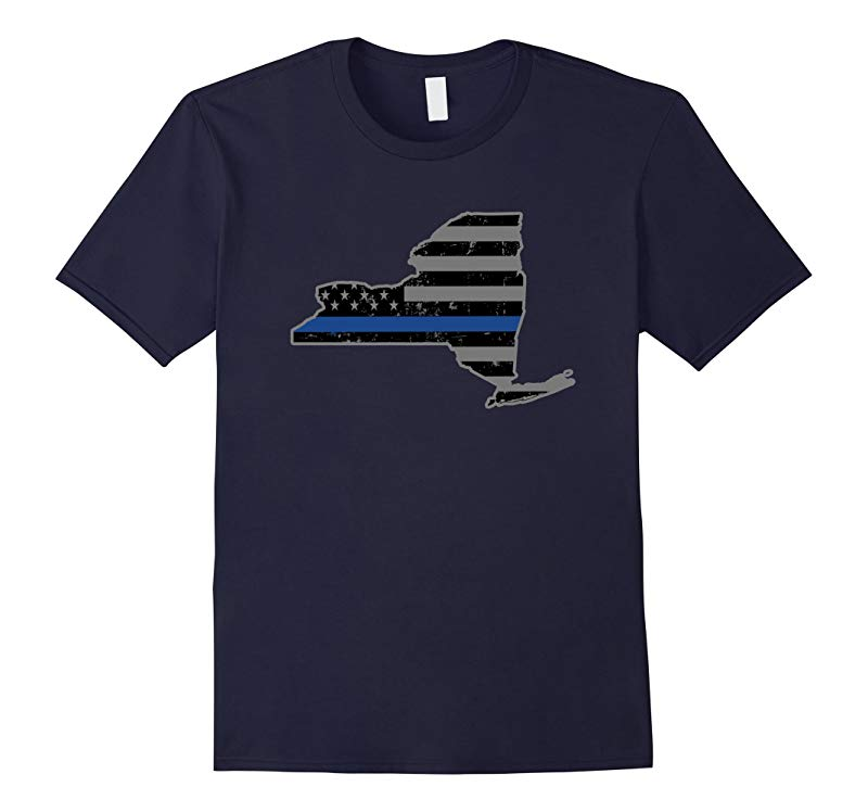 New York Police  Law Enforcement Thin Blue Line Shirts-RT
