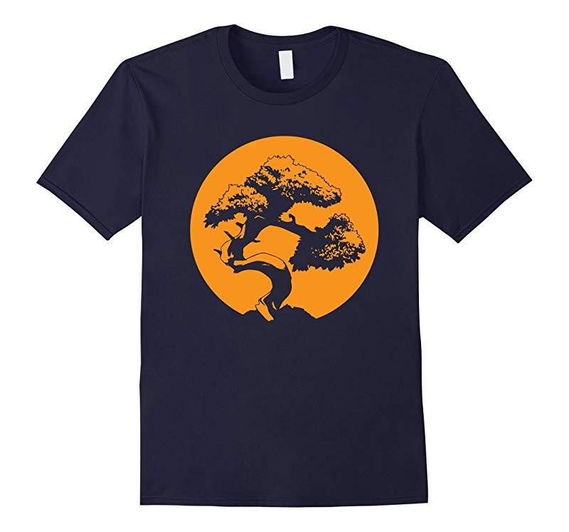 Bonsai T Shirt Japanese Trees Zen Buddhist Orange Sunset 1-RT
