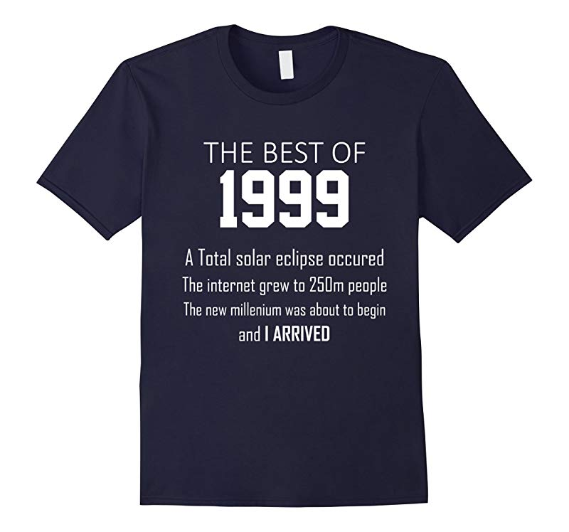 1999 19th birthday T shirt gift for 19 year old boys / girls-RT