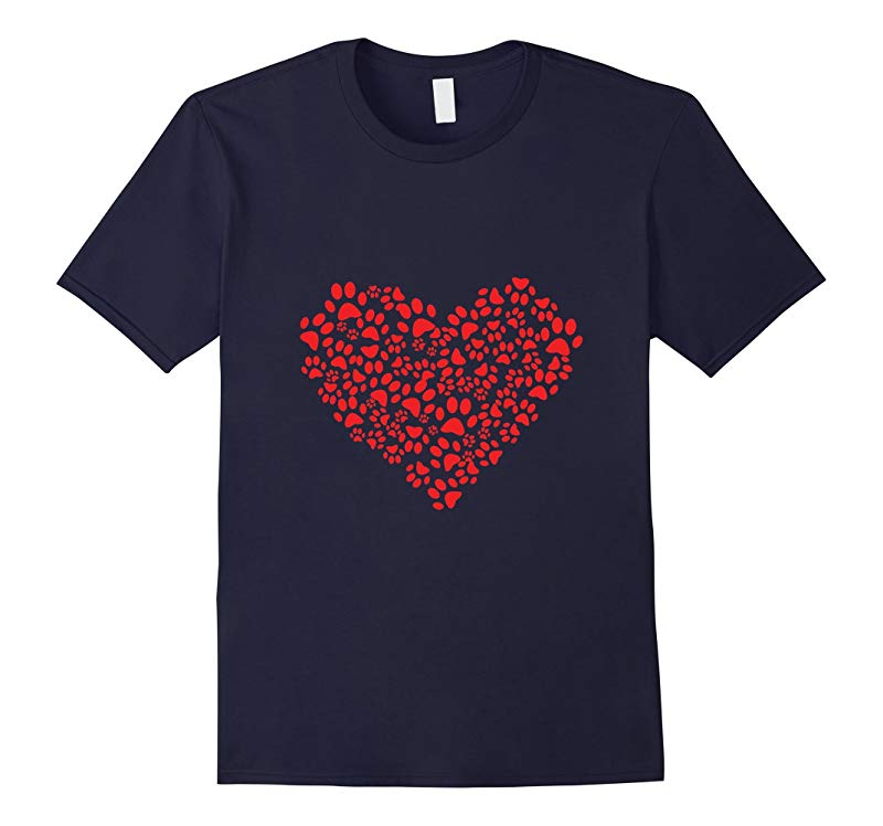 Animal Lover Dog Cat Paws Heart T-Shirt -Limited Time Offer-RT