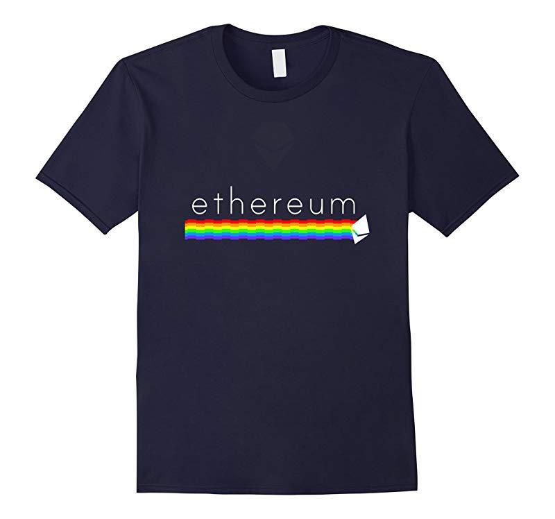 Ethereum Premium Rainbow White Diamond T Shirt  Ether Tee-RT