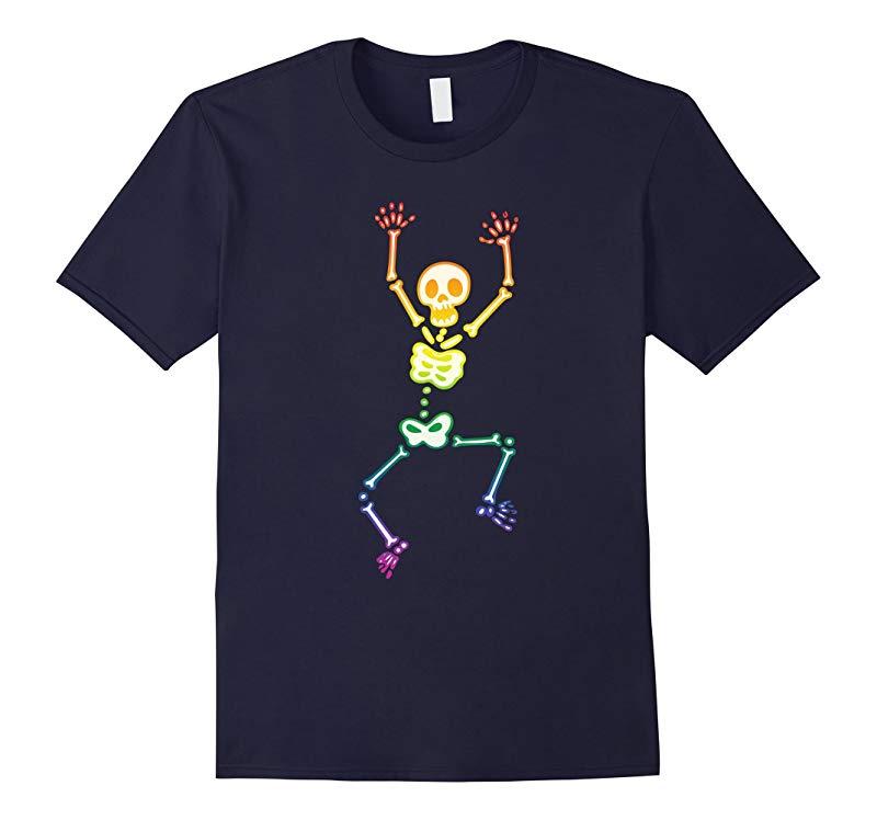 Glow In The Dark Skeleton Gay LGBT Halloween Costume T-shirt-RT