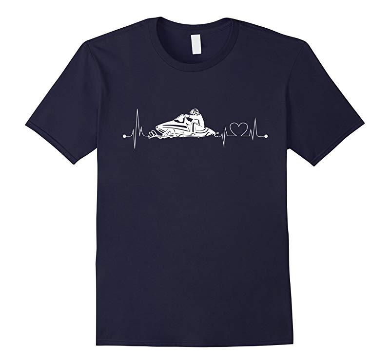 Snowmobile Heartbeat T-Shirt-RT