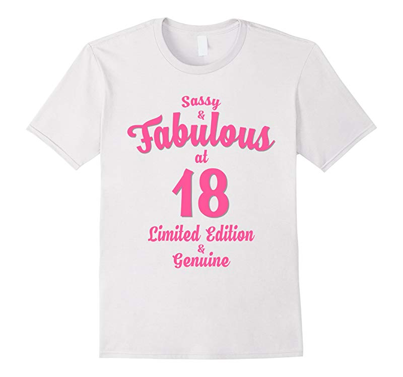 18th Birthday Gift Sassy  Fabulous at 18 Pink-RT