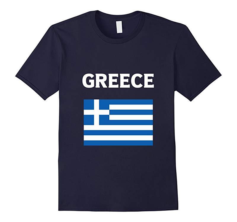 Greece T-Shirt Greek Flag Tee Shirt Hellas-RT