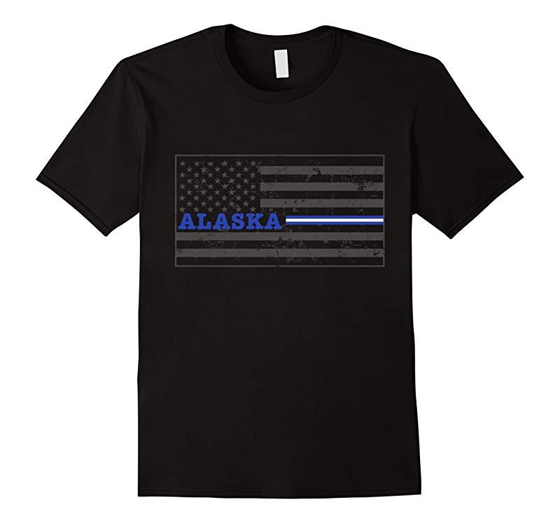Alaska Paramedic EMT Thin White Line Flag Shirt-TD