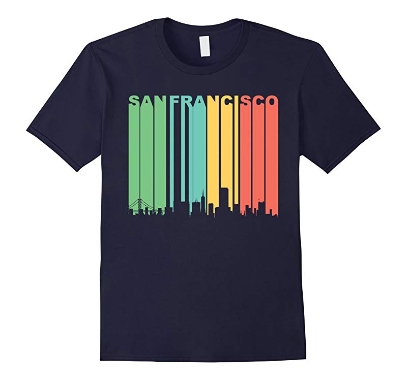 Retro 1970s San Francisco California Downtown Skyline Shirt-RT