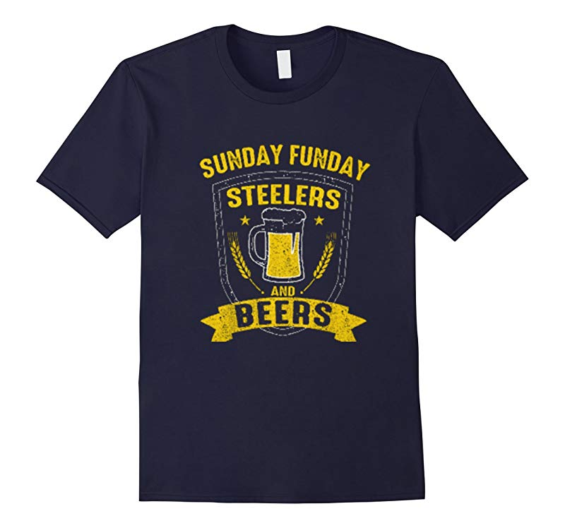 Sunday funday steelers and beers shirts-RT
