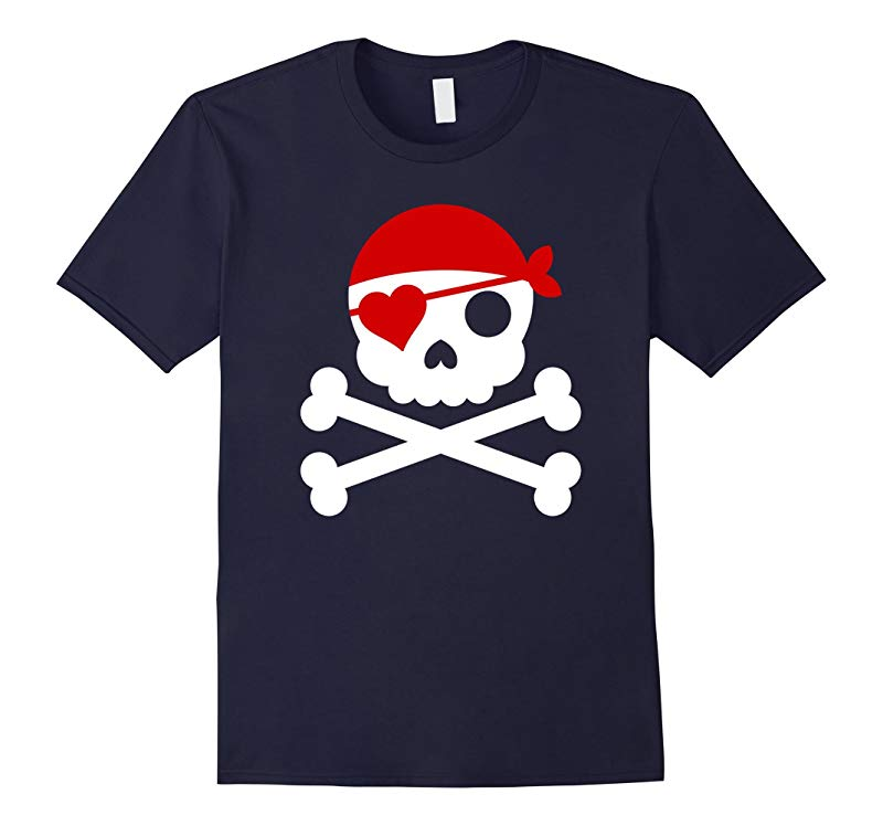 Valentines Day Love Pirate Heart t Shirt - Funny Gift Tee-RT