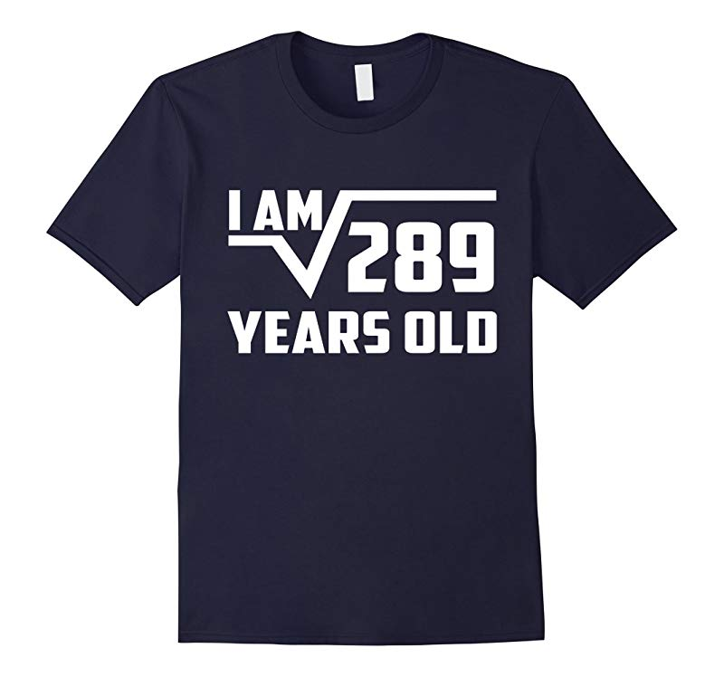 17 Year Old Square Root 289 Shirt 17th Birthday Gift Boy-PL
