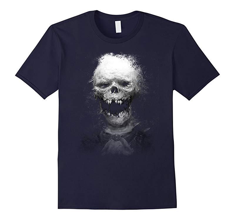 3D Skull Scary Halloween T shirt-RT