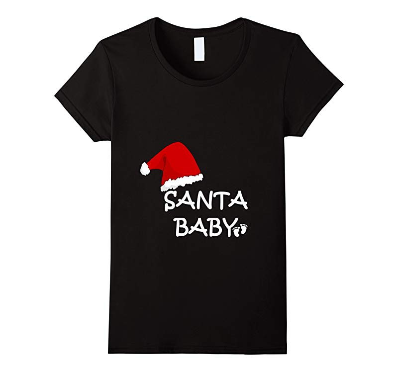 Womens SANTA BABY-MATERNITY AND PREGNANCY CHRISTMAS-Costume T Shirt-ANZ