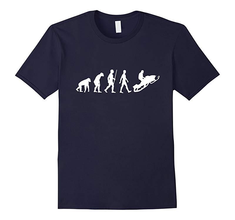Funny Snowmobile T Shirt - Snowmobiling evolution-RT