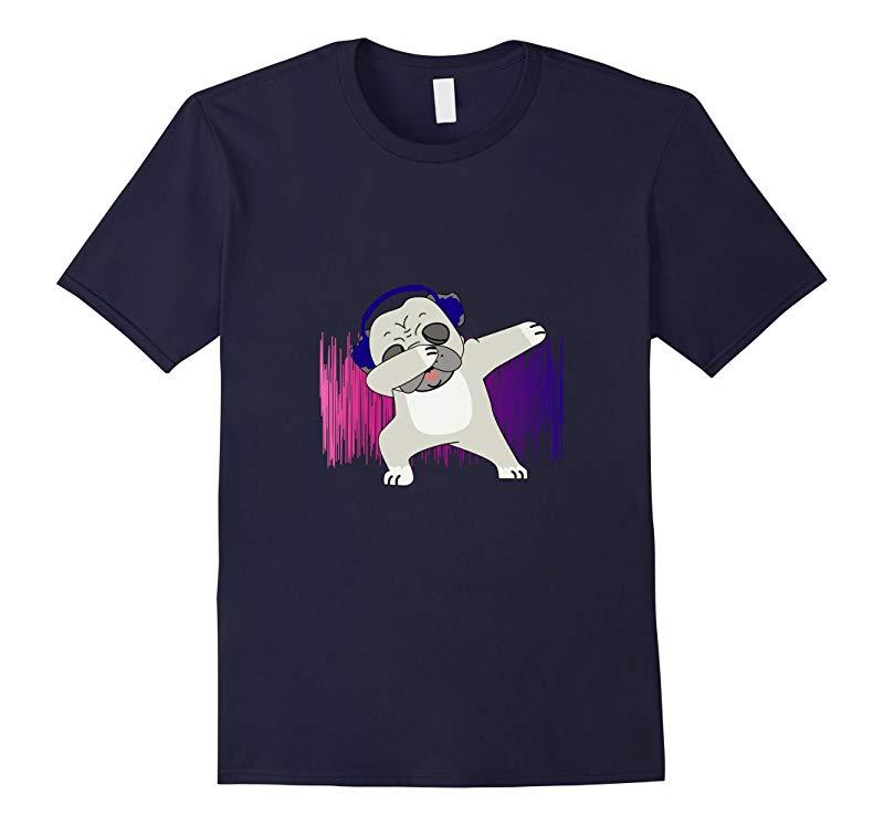 Dabbing Pug Funny Novelty T-shirt-RT