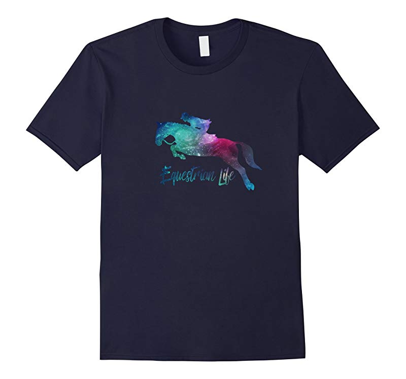 Equestrian Life Watercolor T Shirt for Horse Lovers-RT