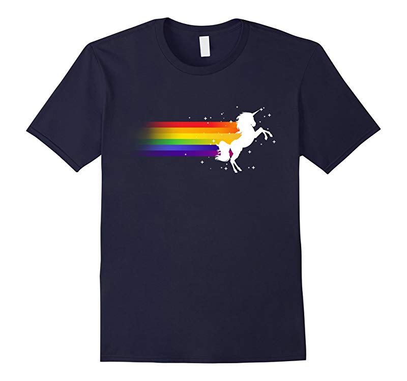 Unicorn Shirt Magic Colorful Rainbow LGBT shirt-RT