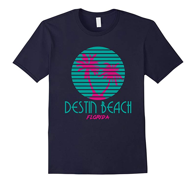 Destin Beach Florida T Shirt 80s Palm Trees Souveniers-TD