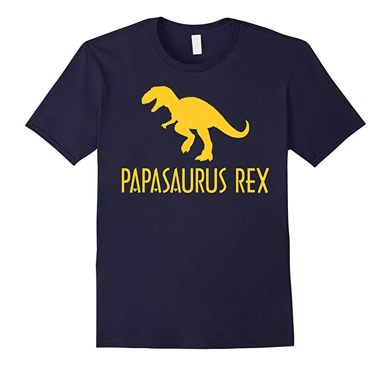 Papasaurus Rex Mens T-shirt Fathers Day Shirts-RT