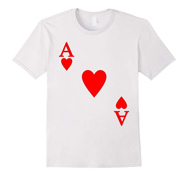 Ace of Heart Halloween Costume T-shirt-RT