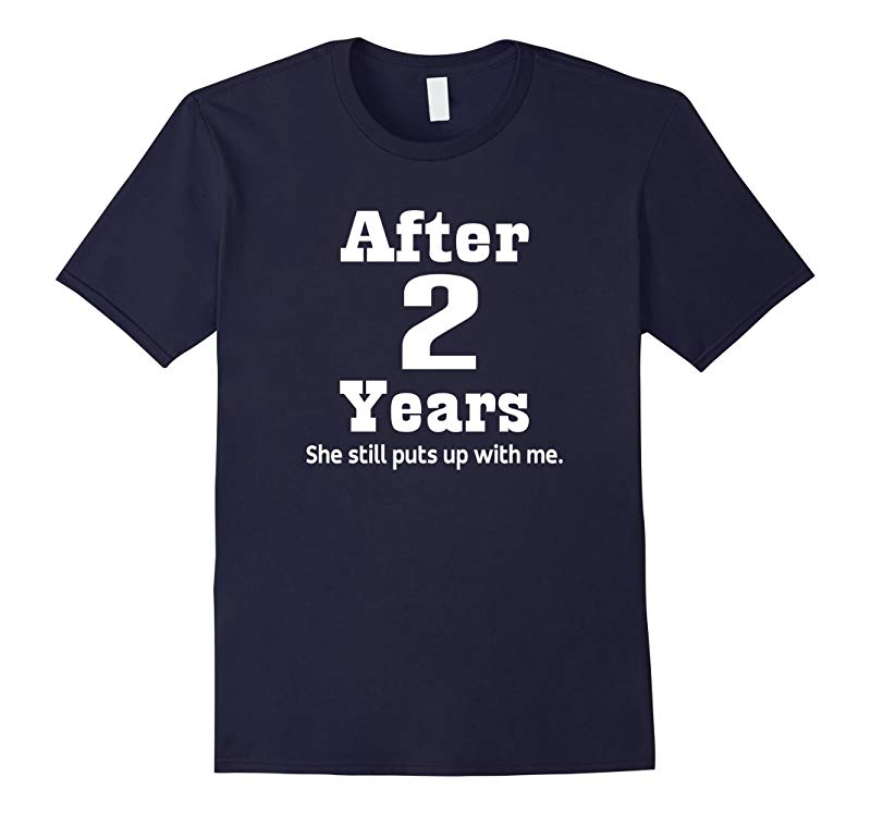 2nd Anniversary T-shirt Funny Mens Party Photo Tee-RT