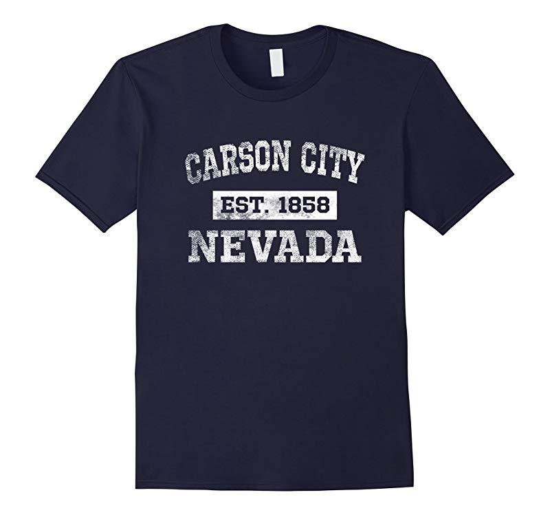 Carson City Nevada T Shirt Est 1858 Distressed-TH